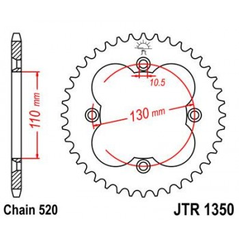 CREMALHEIRA HONDA MOTO 4 TRX 250/300/400/450 JT1350 38Z    1