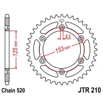 CREMALHEIRA HONDA XR250/400/600/CR125/CR250/JT210 48 Z