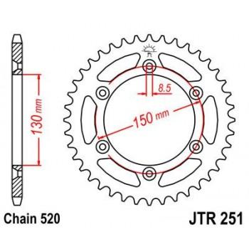 CREMA YAMAHA YZ125/250/WR400/426 99-02 JT251 48Z ALUM.