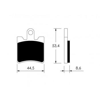 PASTILHAS T/DISCO AN250/400/GTS/FJR1300 VICMA     9